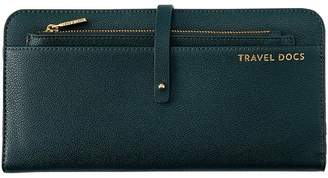 Love & Lore LOVE AND LORE TRAVEL WALLET WITH POUCH DARK GREEN