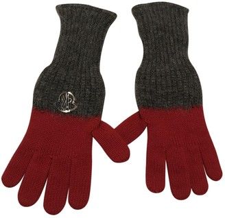 Moncler Red Wool Gloves