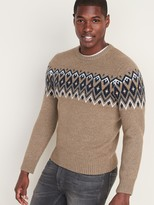 Old Navy Fair Isle Crew-Neck Sweater for Men