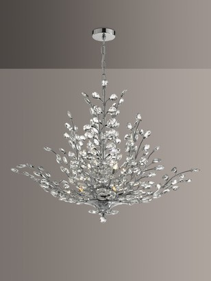 Dar Cordelia Crystal Chandelier Ceiling Light, Clear/Polished Chrome