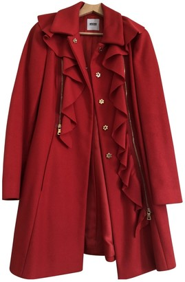 Moschino Cheap & Chic Moschino Cheap And Chic Red Wool Coat for Women