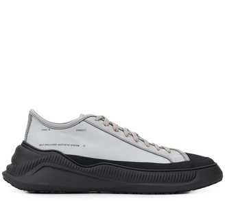 Oamc contrast-footbed chunky trainers