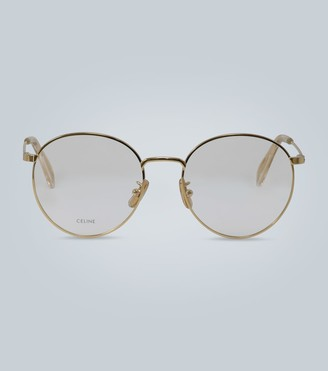 Celine Rounded metal frame glasses