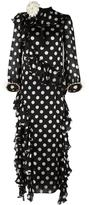 Gucci ruffled polka dot gown - women - Silk/Cotton/Spandex/Elastane/Viscose - 40