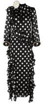 Gucci ruffled polka dot gown
