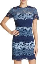 Aqua Multi Lace Bodycon Dress