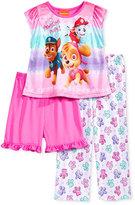 3-Pc. Paw Patrol Pajama Set, Toddler Girls (2T-5T)