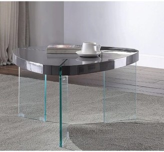 Ivy Bronx Laperle 3 Legs Coffee Table Table Top Color: Black