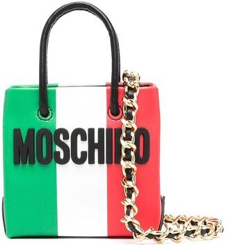 Moschino Slogan-Print Mini Bag
