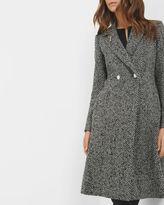 MAHHAR Chevron longline coat