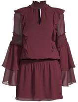 Parker Eliana Smocked Ruffled Mini Dress