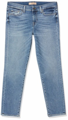 7 For All Mankind Women's Mid Rise Roxanne Crop Slim Jeans