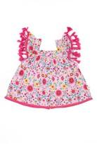 Infant Girl's Rosie Pope Floral Fringe Top