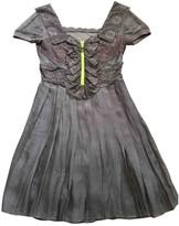 Christopher Kane For Topshop For Tophop Grey Silk Dress for Women