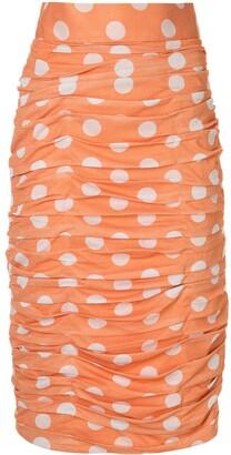 Bambah Polka Dot Ruched Skirt