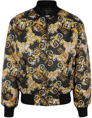 Versace Jeans Couture Black reversible shell bomber jacket