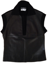 Salvatore Ferragamo Black Leather Top