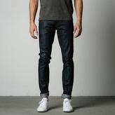 DSTLD Skinny-Slim Raw Jeans in Selvedge Indigo - Grey