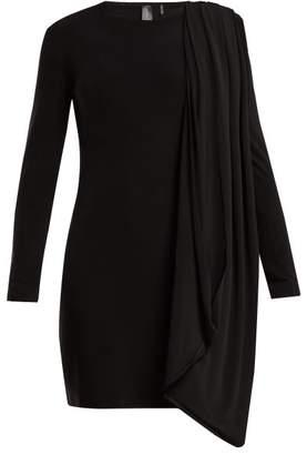 Norma Kamali Draped Jersey Dress - Womens - Black