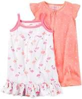 Carter's Girls' 2 PK Gown Poly 373g081