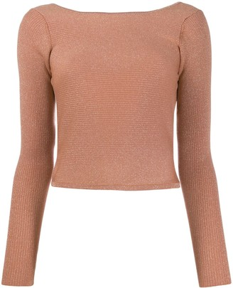Forte Forte Metallic Low-Back Knitted Top
