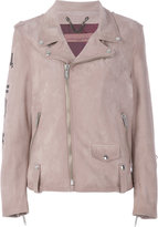 Golden Goose Deluxe Brand off-center zip fastening jacket - women - Lamb Skin/Cupro/Viscose - XS