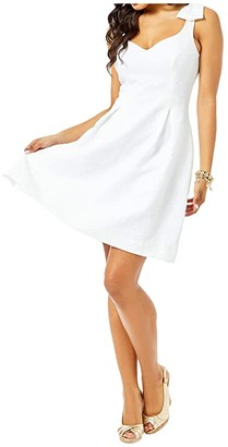 Lilly Pulitzer Linnet Stretch Dress (Resort White Hip Nautic Pucker Jacquard) Women's Dress