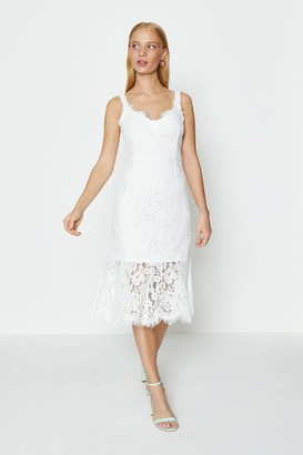 Coast Lace Frill Hem Midi Dress