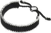 Links of London Wide friendship bracelet - black