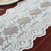 TaiXiuHome Decorative Embroidered Hollow Lace Modern Minimalist Table Runner Table flags for wedding and party decoration 60 inch Approx