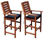 Corliving Miramar Outdoor Bar Height Chair Set