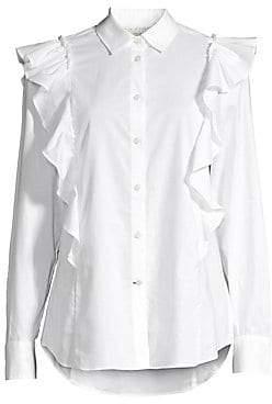 876aa4d29f3 Womens White Cotton Button Shirt - ShopStyle