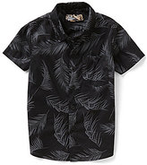 First Wave Little Boys 2T-7 Button-Front Poplin Leaf-Printed Shirt