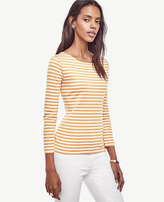 Ann Taylor Striped Ponte Top