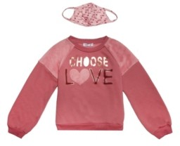 Beautees Big Girls Choose Love Sweater and Matching Mask