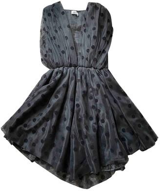 Au Jour Le Jour Black Velvet Dress for Women