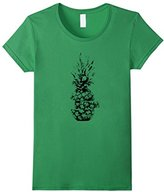 Women's Sliced Pineapple Print Graphic T-Shirt Small
