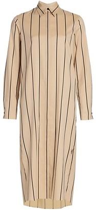 Akris Belted Stripe Midi Shirtdress