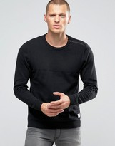 Jack and Jones Zipped Shoulder Detail Sweater