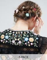 Asos Pack of 6 Paper Flower Hair Clips