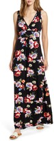 Loveappella Floral Print Maxi Dress