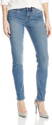 Yummie Women's Modern Mid Rise Slimming Straight Denim Jeans