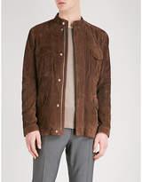 Corneliani Stand-collar suede jacket