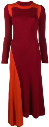 Alexander McQueen Colour-Blocked Wool Knit Dress