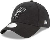 New Era Women's Black San Antonio Spurs Core Classic 9TWENTY Adjustable Hat