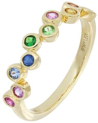 Bony Levy Monaco 18K Yellow Gold Bezel Set Multicolored Stone Band Ring