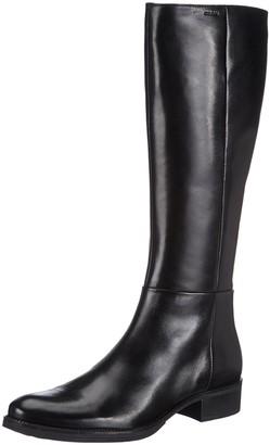 Geox D Mendi Stivali Q Womens Ankle Riding Boots Black (Blackc9999) 3 UK (36 EU)