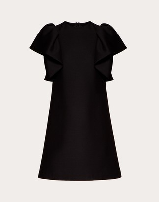 Valentino Short Dress In Crepe Couture Women Black Virgin Wool 65%, Silk 35% 38