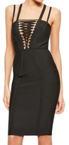 Missguided Women's Lace-Up Bodice Body-Con Dress