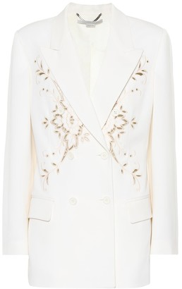 Stella McCartney Embroidered wool blazer
